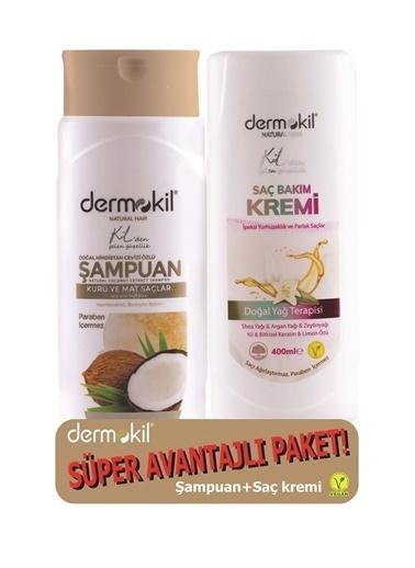 Dermokil Dermokil Hindistan Cevizi Şampuan + SaçKremi-2'li Avantajlı Set-400 ml Renksiz